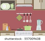 fragment of an interior of... | Shutterstock .eps vector #557009638