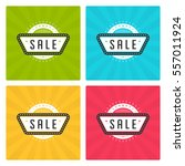 sale banners or labels vector...   Shutterstock .eps vector #557011924