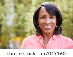 smiling senior african american ... | Shutterstock . vector #557019160