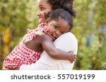 african american mother... | Shutterstock . vector #557019199