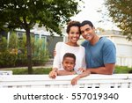 young african american family... | Shutterstock . vector #557019340
