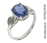 jewelry silver ring with blue... | Shutterstock . vector #557021929