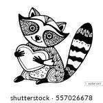 raccoon isolated. cute cartoon... | Shutterstock .eps vector #557026678