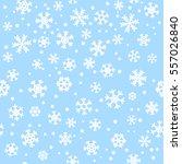 blue seamless winter snowflake... | Shutterstock .eps vector #557026840