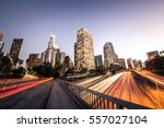 la downtown at sunset  ... | Shutterstock . vector #557027104