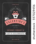happy valentines day party... | Shutterstock .eps vector #557029456