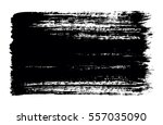 black brush strokes of paint on ... | Shutterstock .eps vector #557035090