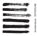 black vector strokes of paint... | Shutterstock .eps vector #557035108