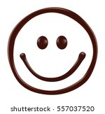 chocolate smiley face on white... | Shutterstock .eps vector #557037520