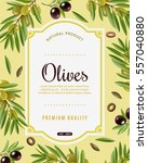 Olive Frame Background With...