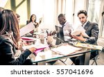 business people at work in the...   Shutterstock . vector #557041696