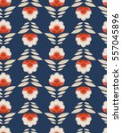 seamless retro pattern with... | Shutterstock .eps vector #557045896