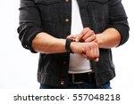 futuristic gadget and... | Shutterstock . vector #557048218