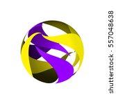 computer graphic sphere 3d.... | Shutterstock .eps vector #557048638