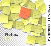 yellow sticky note isolated on... | Shutterstock .eps vector #557050228