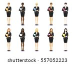 vector set illustration of ... | Shutterstock .eps vector #557052223