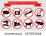 Prohibited Sign At The Theater...