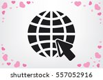globe and arrow icon vector... | Shutterstock .eps vector #557052916