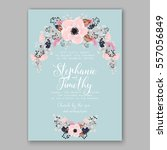 wedding invitations with... | Shutterstock .eps vector #557056849