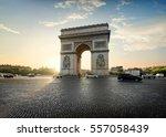 traffic on avenue de la grande... | Shutterstock . vector #557058439