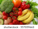 fresh fruits and vegetables | Shutterstock . vector #557059663