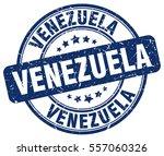 venezuela. stamp. blue round... | Shutterstock .eps vector #557060326