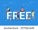 free commercial offers concept... | Shutterstock .eps vector #557061640