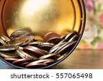 money falling out from ... | Shutterstock . vector #557065498