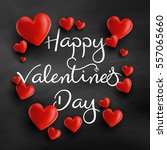 valentine's day background with ...   Shutterstock .eps vector #557065660