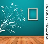 room interior with decorative... | Shutterstock .eps vector #557065750