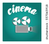 film projector in a flat style. ... | Shutterstock .eps vector #557065918