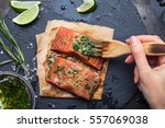 women's hands are preparing...   Shutterstock . vector #557069038