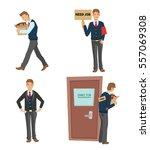 unemployed man set. dismissed... | Shutterstock .eps vector #557069308