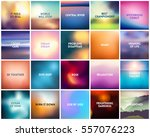 big set of 20 square blurred... | Shutterstock .eps vector #557076223
