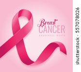 breast cancer awareness ribbon... | Shutterstock .eps vector #557078026