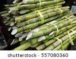 sugarcane placed on street in... | Shutterstock . vector #557080360