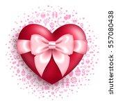 valentine's day concept icon.... | Shutterstock .eps vector #557080438
