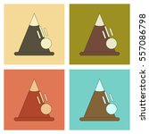assembly flat icons mountains... | Shutterstock .eps vector #557086798