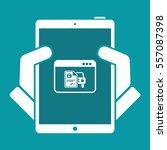 automotive online quote  ... | Shutterstock .eps vector #557087398