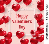 happy valentines day design.... | Shutterstock .eps vector #557094730