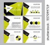 business template design set... | Shutterstock .eps vector #557099719