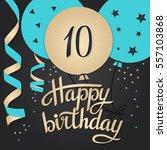 happy birthday card template... | Shutterstock .eps vector #557103868