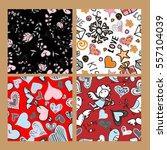 set valentine seamless pattern... | Shutterstock .eps vector #557104039