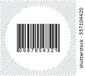 barcode vector icon   black ... | Shutterstock .eps vector #557104420