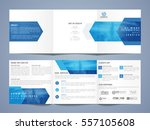 three fold business brochure... | Shutterstock .eps vector #557105608