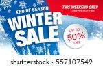winter sale banner  vector... | Shutterstock .eps vector #557107549