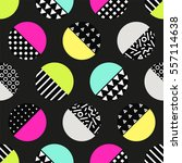 cute 80's style seamless... | Shutterstock .eps vector #557114638