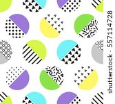 cute 80's style seamless... | Shutterstock .eps vector #557114728
