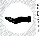 empty open hand vector icon  ... | Shutterstock .eps vector #557115550
