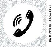 phone vector icon   black ... | Shutterstock .eps vector #557115634